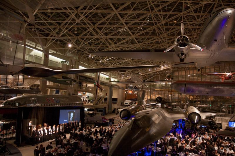 "A view of the ""Great Gallery"" during the 2016 Pathfinder Awards banquet."