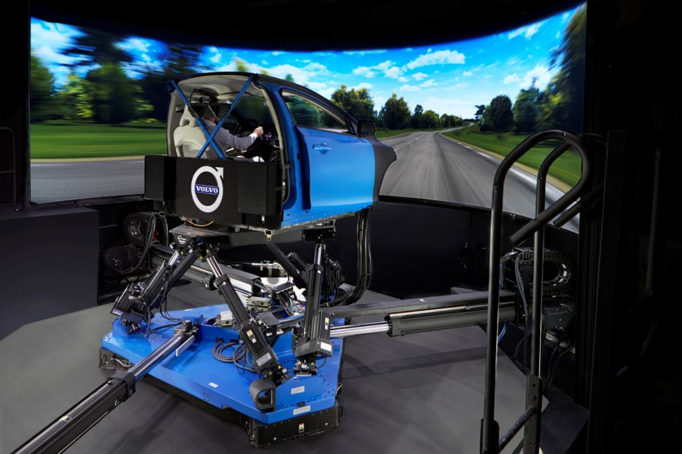 Volvo's Vi-Grade chassis simulator helped the company do early-stage development on the V90 Cross Country chassis.