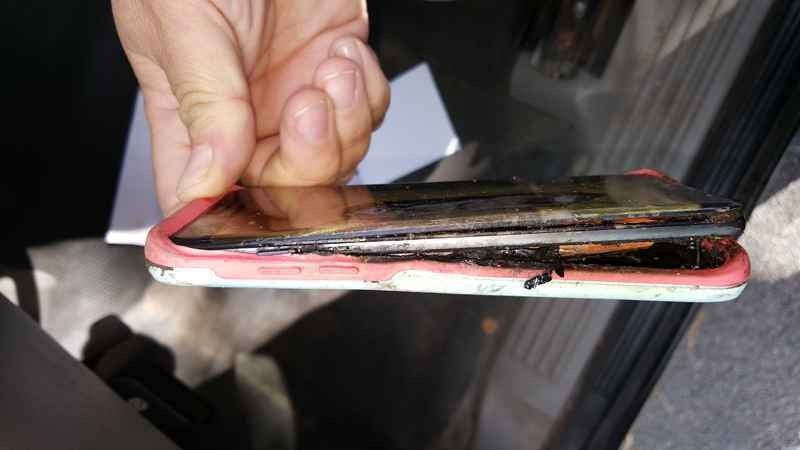A Galaxy Note 7 that burned a little girl in Minnesota.