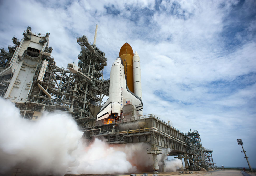 After the space shuttle retired in 2011, with this flight of STS 135, NASA needed new ways to get its crew members to the space station.