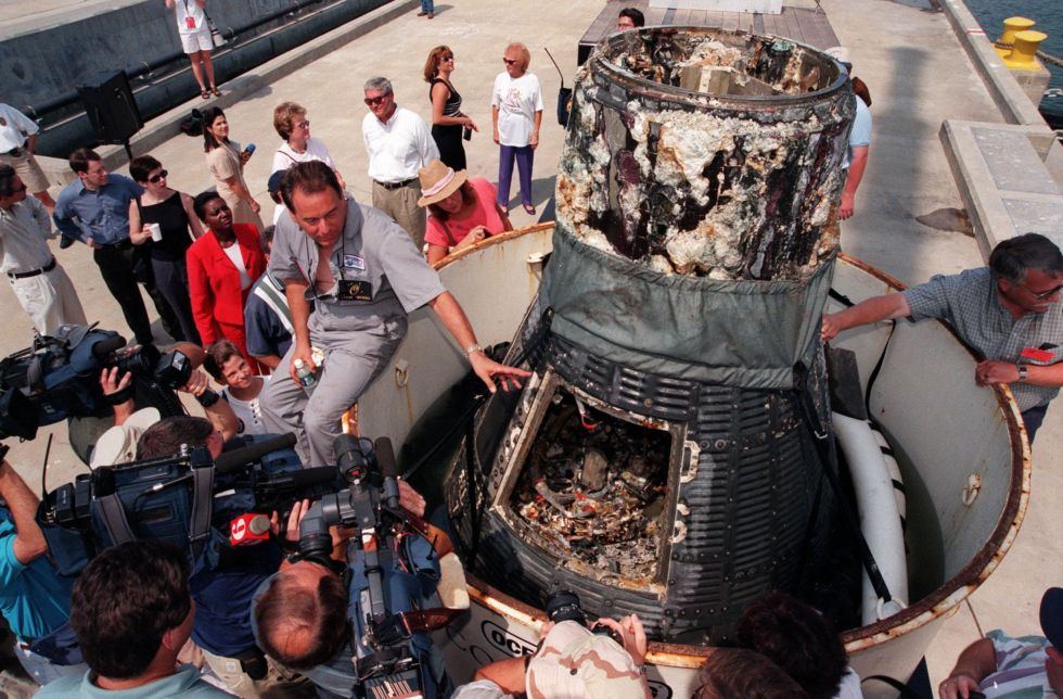After 38 years on the bottom of the ocean, Liberty Bell 7 had seen better days.