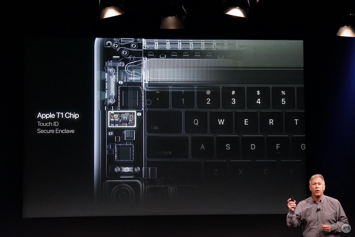 Phil Schiller introduces the T1 SoC.