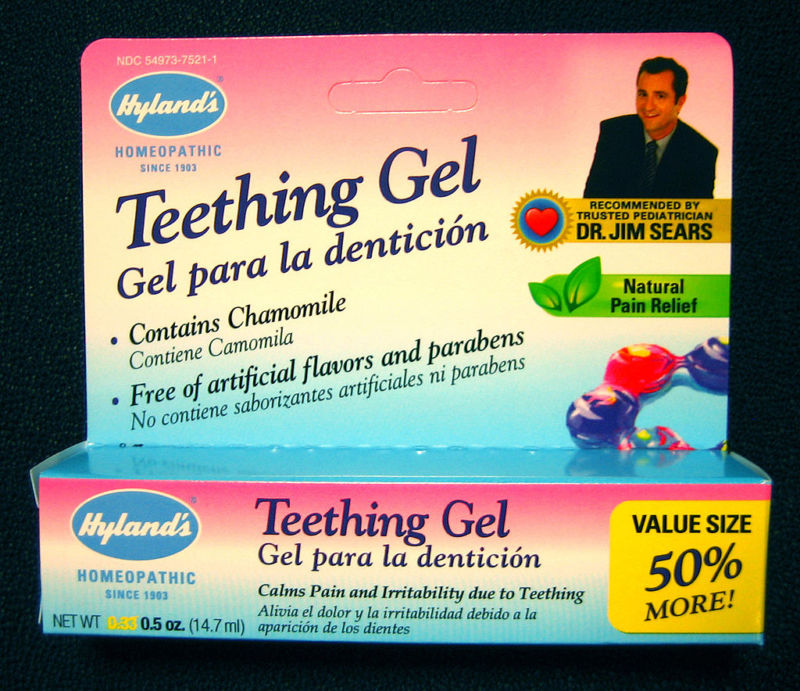 Hyland's Homeopathic Teething Gel.