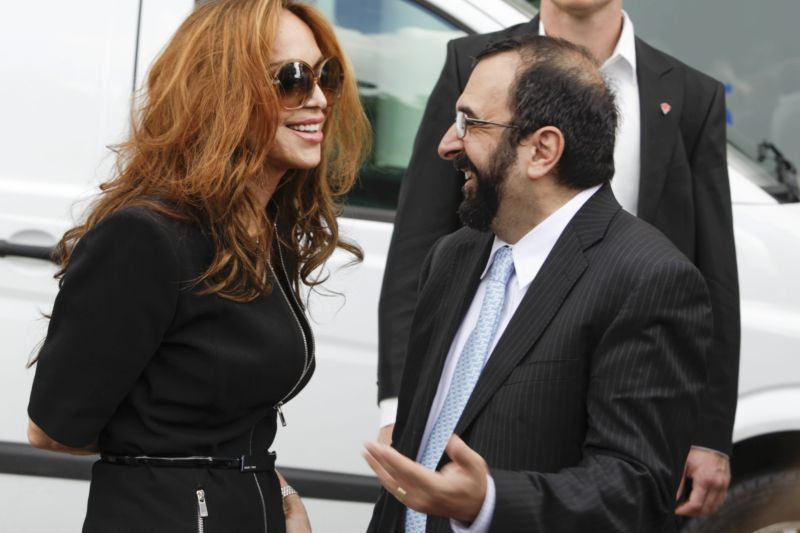 US anti-Islam activists Pamela Geller (L) and Robert Spencer as seen here in Stockholm, Sweden, in 2012.