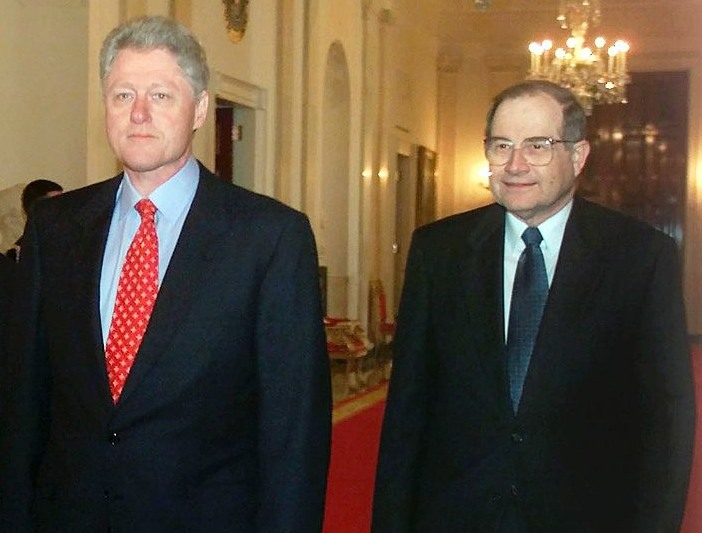 President Bill Clinton and Assistant to the President for Science and Technology Neal Lane, in 2000.
