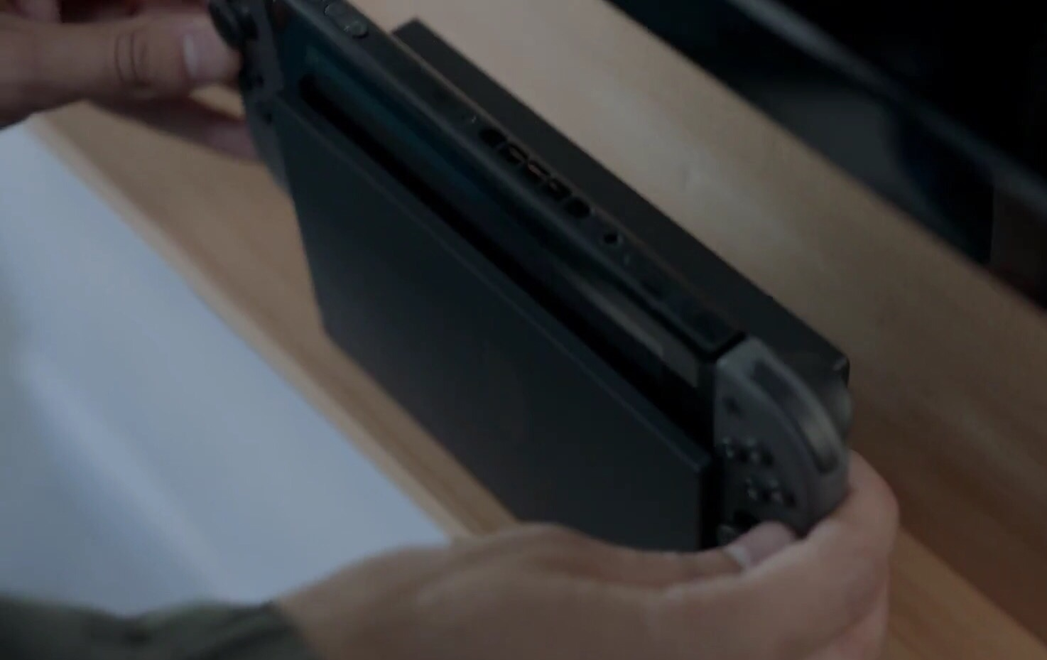 The Switch's fan vent is positioned on the top of the tablet.