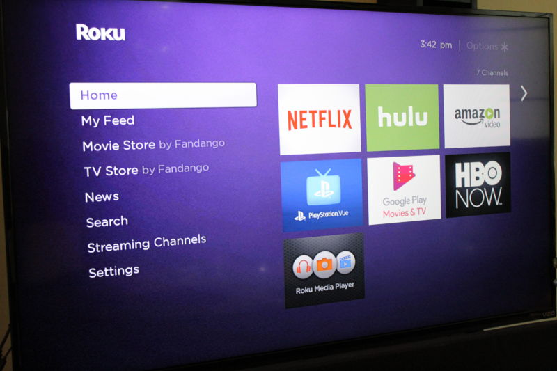 Roku Express main menu. Just like in other Roku units.