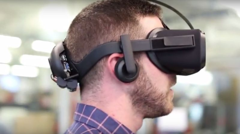 Oculus' Santa Cruz prototype, shown off at Oculus Connect last year, gives some idea of what a standalone wireless headset from the company could look like.