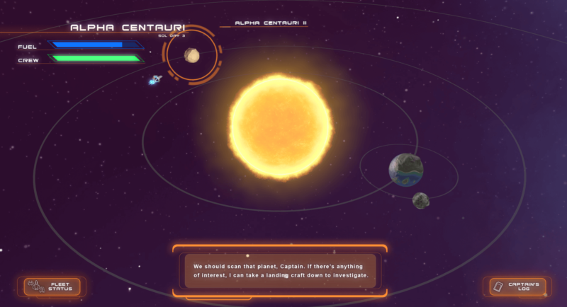 A system view, with navigation between planets, and a fleet status? This is looking very <em>Star Control</em> to me!