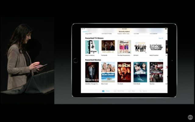 Apple's new TV app on iPad.