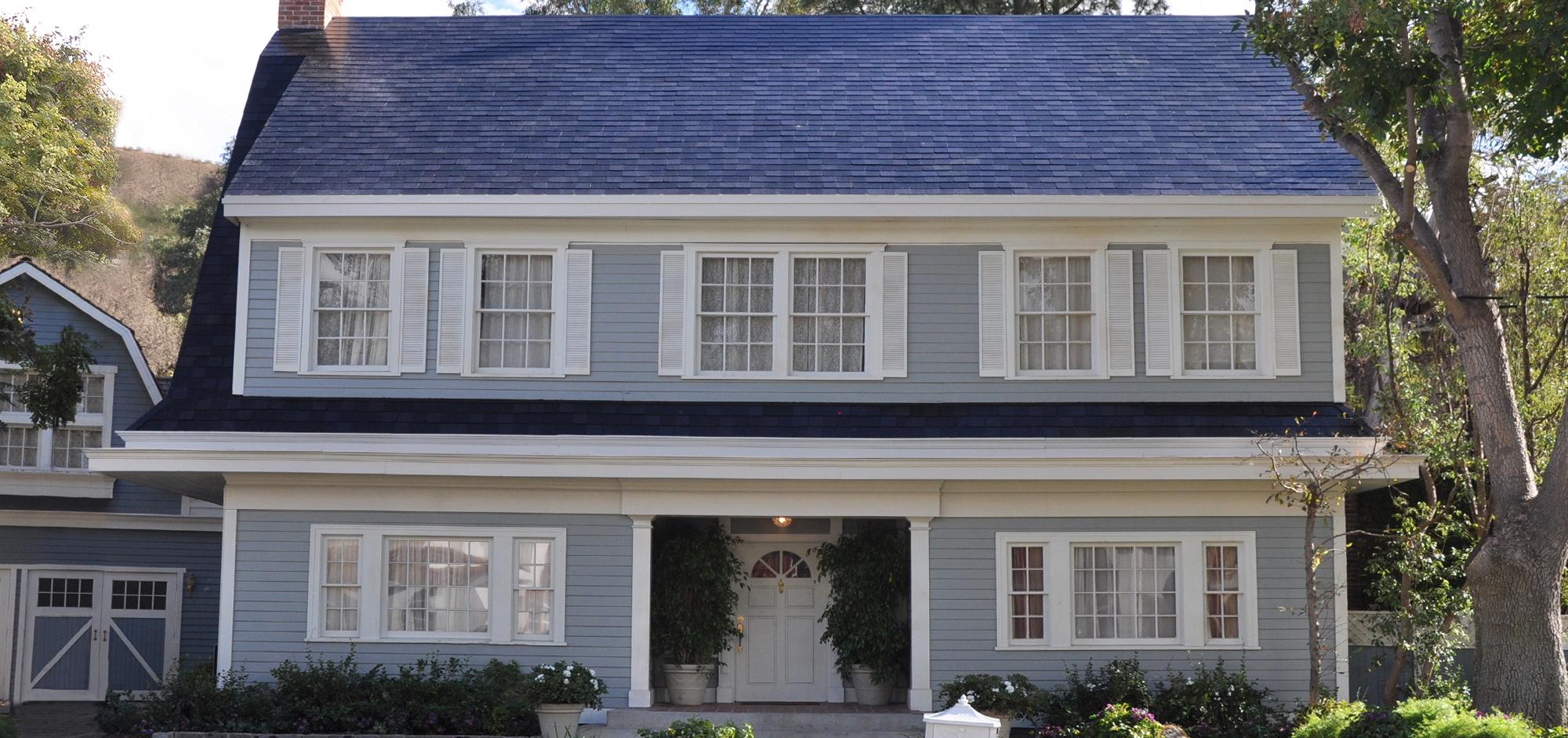 A Tesla solar roof.
