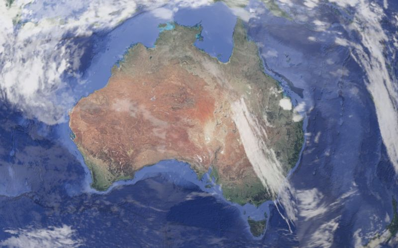 The entire continent of Australia sways (a little) with the weather