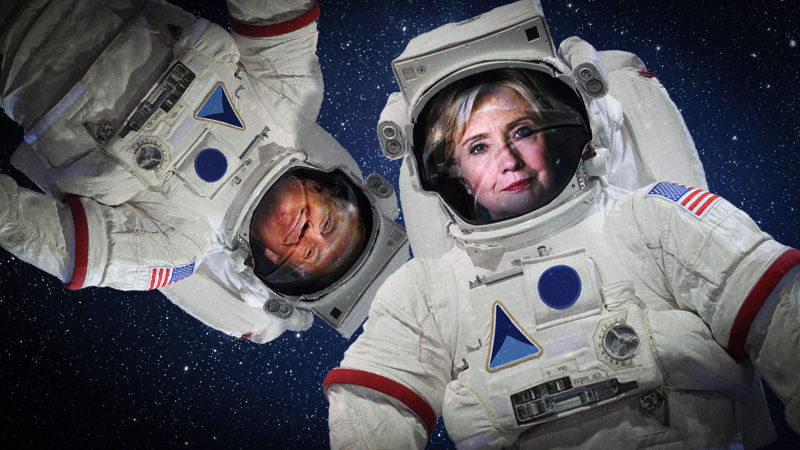 Trump and Clinton, should we send them into space?