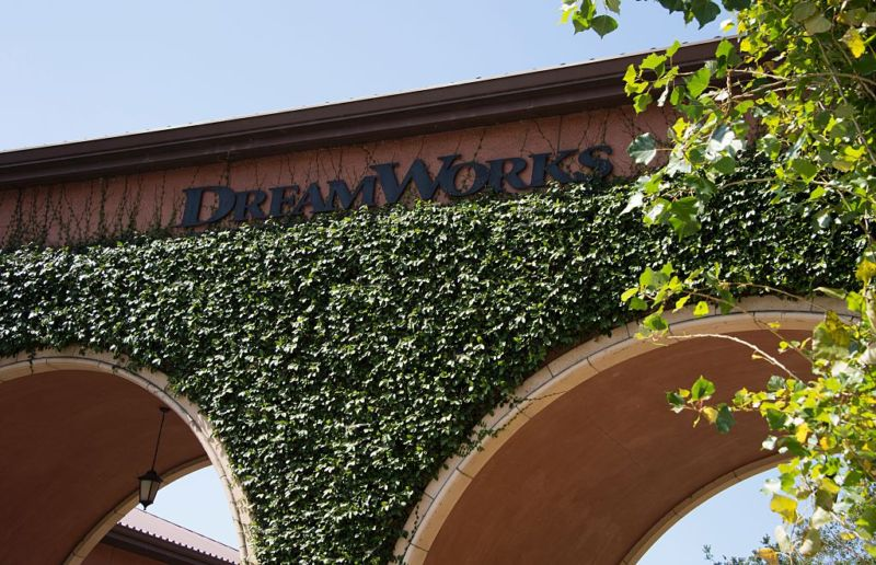 The exterior of DreamWorks Animation in Glendale, California.