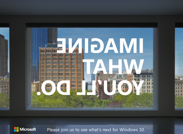 Microsoft's next event—on Windows 10, not hardware—is in NYC on October 26