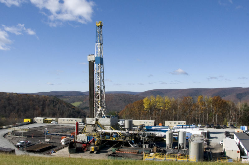 A natural gas well in Pennsylvania. This one is currently active, but how we decommission it matters.