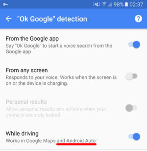 """The """"Android Auto"""" mention here is new."""