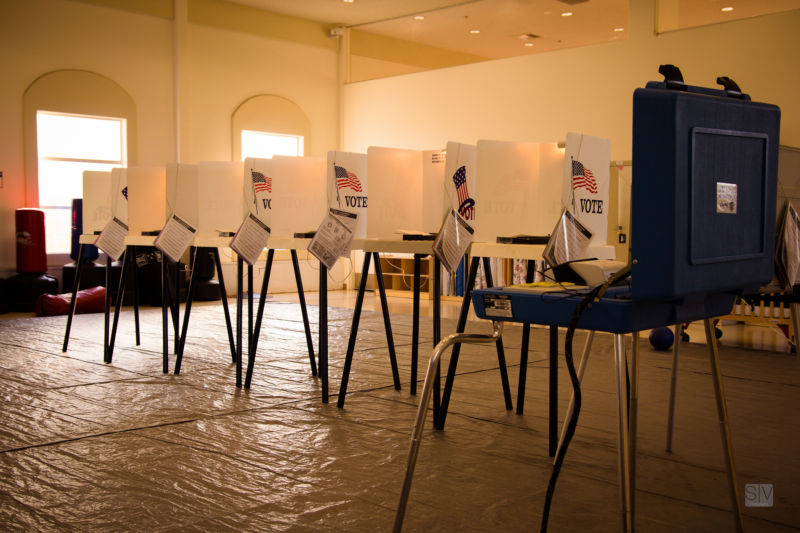A Los Angeles polling place as seen in 2012