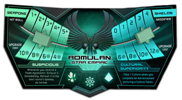 "The Romulan ""command console"" that shows shield and weapon bonuses, along with civ-specific abilities."
