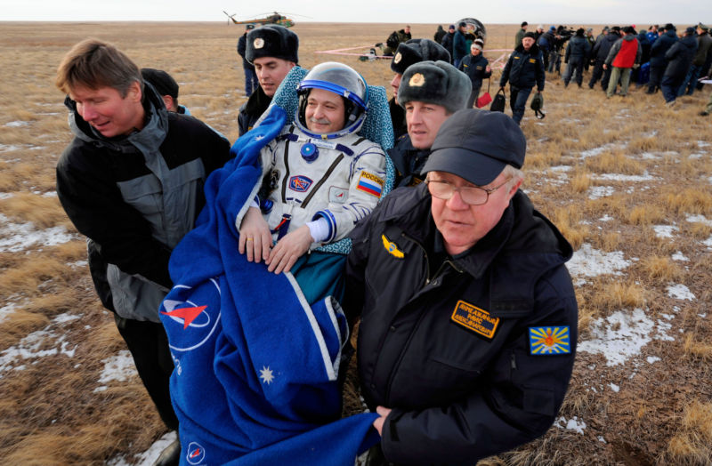 Cosmonaut Fyodor Yurchikhin, a veteran flier shown here after a 2010 mission to the space station, will be Russia's only flier next March.