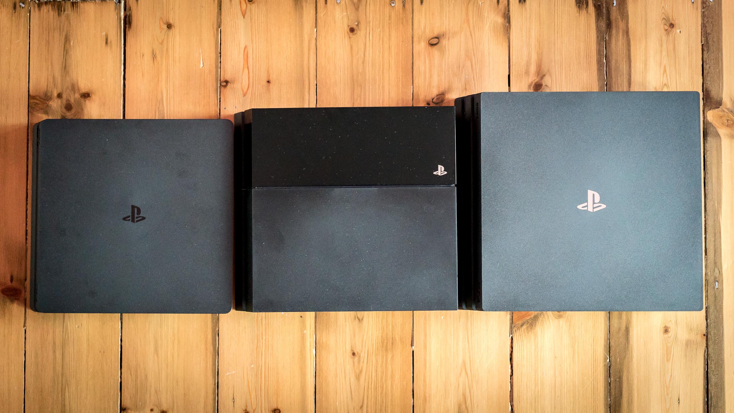 PS4 Slim, OG PS4, PS4 Pro.