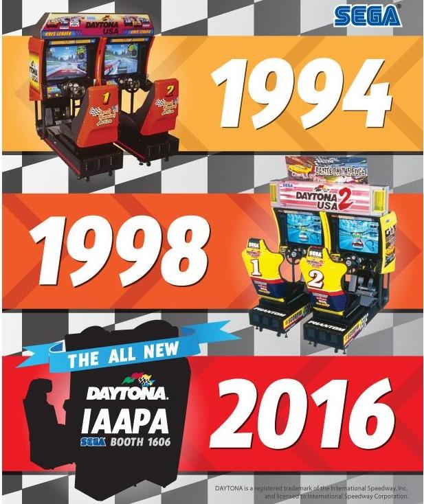 Sega's teaser image about <em>Daytona 3 Championship USA</em> lacks screens, cabinet photos, or any sweet, cheesy theme songs. Still, we'll take it.