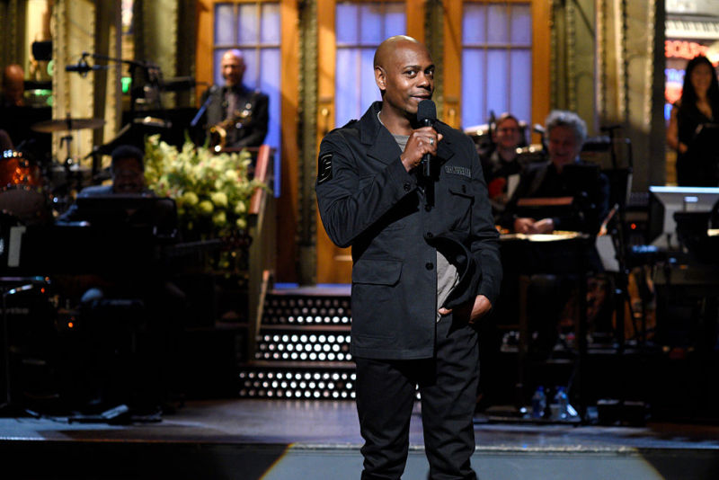 Host Dave Chappelle during SNL's monologue on November 12, 2016.