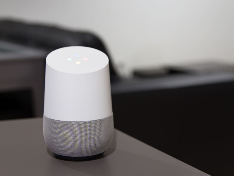 The Google Home. It's listening!