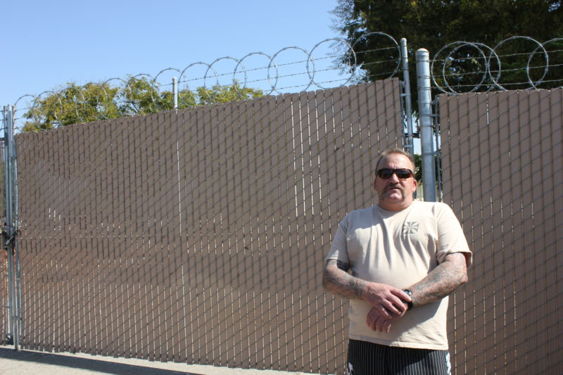 Barry Bowser, seen here in front of the Bakersfield property where he was arrested in 2014.