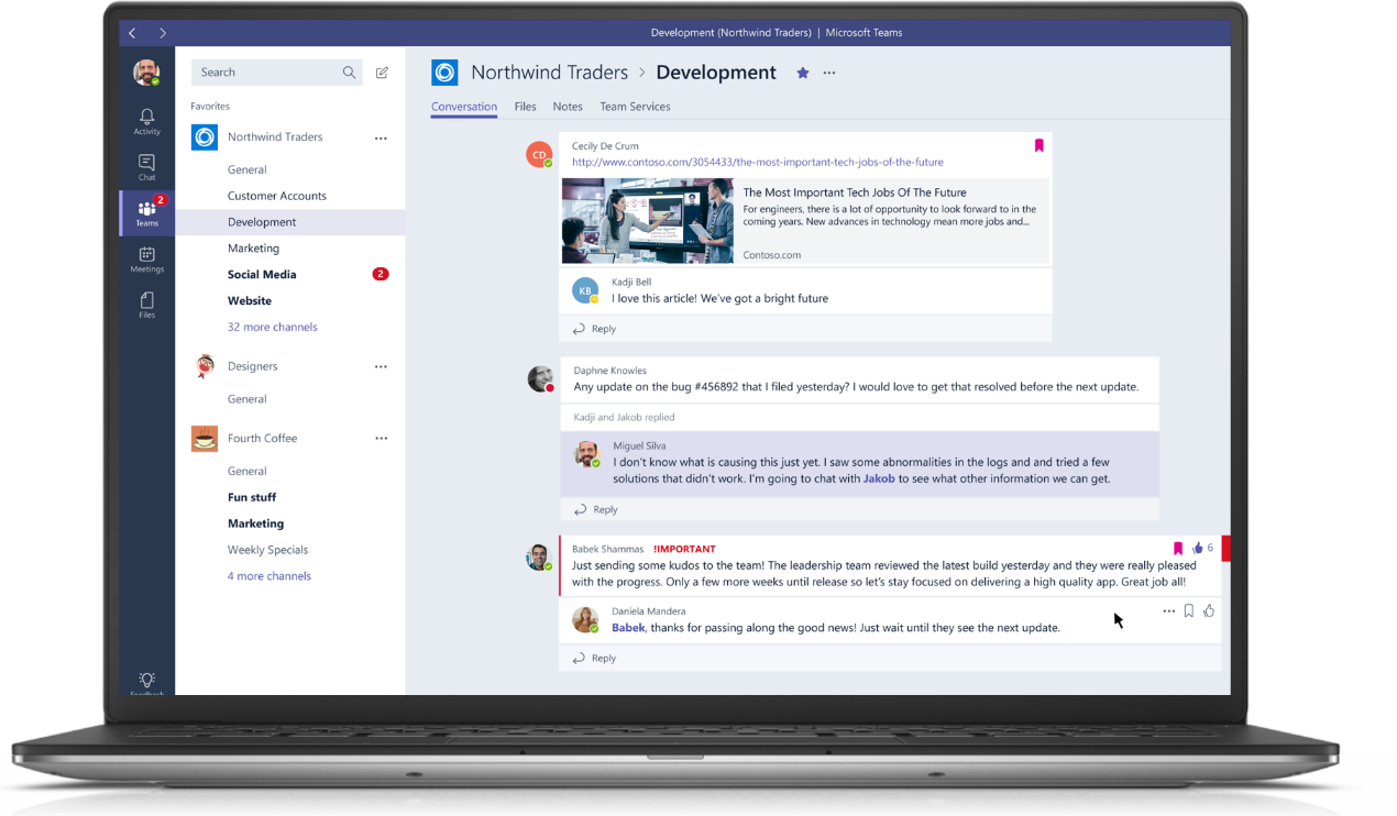 Microsoft Launches Teams Takes On Slack On Its Home Turf