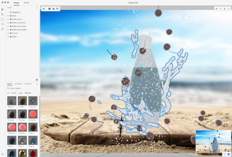 Adobe's Project Felix makes it easier to mix real and rendered content.