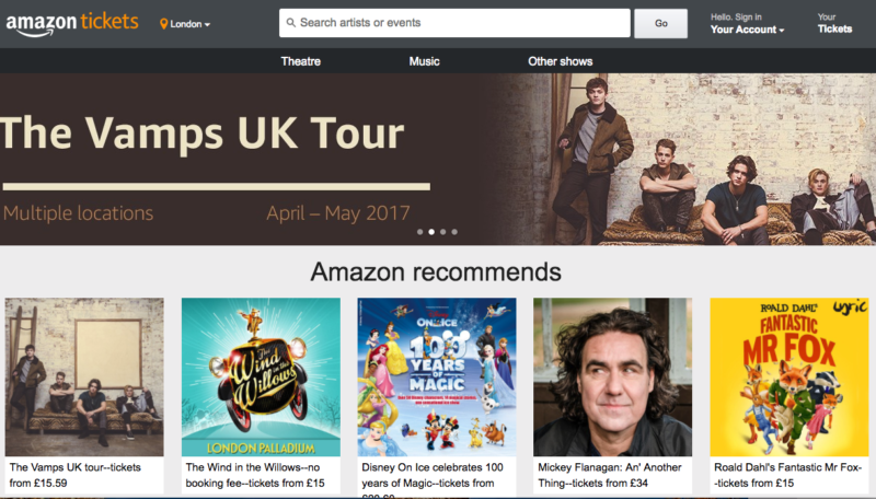 Amazon Tickets could take on Ticketmaster in possible US expansion