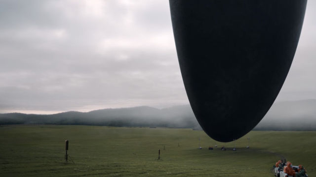 The bottom half of the alien ships, which look like sculpted mountains suspended in the air.