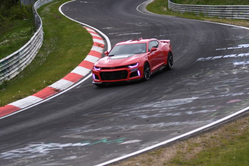 The Camaro ZL1 on the toughest racetrack in the world, the Nürburgring Nordschleife.
