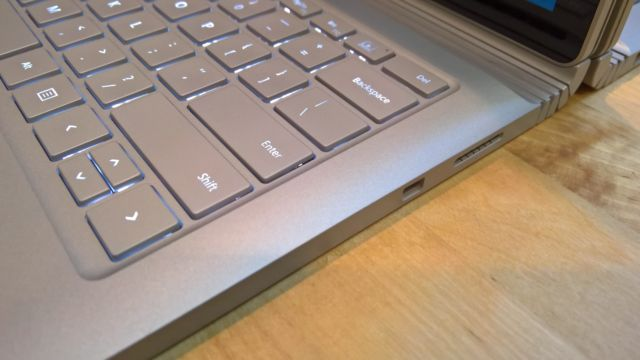 The base now bulges above the keyboard, leaving it slightly inset.