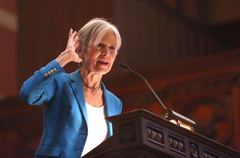 Dr. Jill Stein, Green Party presidential candidate, speaking at Old South Church in Boston on October 30, 2016.