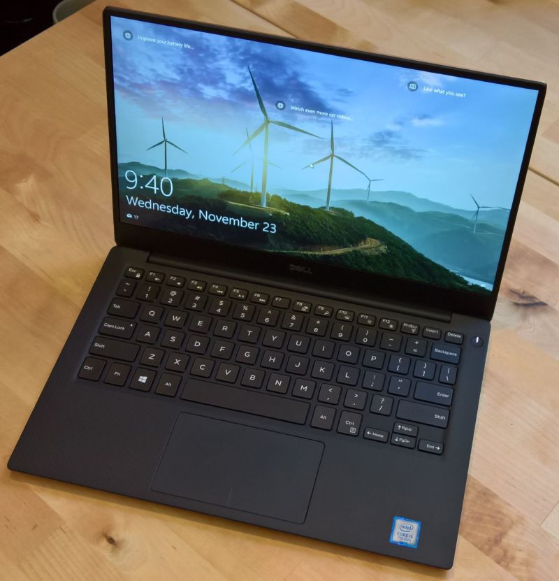 Little changed from its predecessors, the Kaby Lake Dell XPS 13.