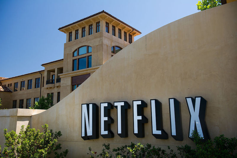 Netflix company headquarters in Los Gatos, California.