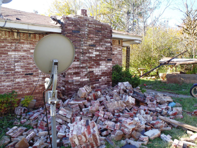 A home in Prague, Oklahoma, after a magnitude 5.7 earthquake in 2011.