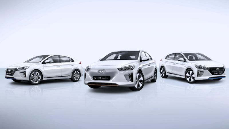 Hyundai Ioniq And Kia Niro Review Korean Tanks Parked On An S Lawn