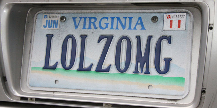 court: license plates must be displayed, so by definition they aren