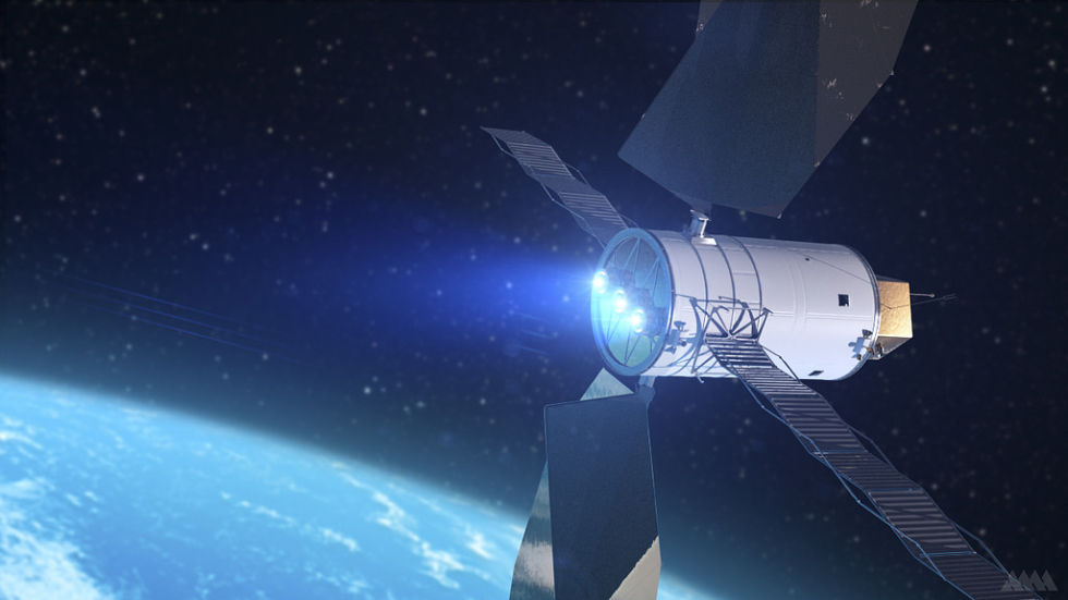 Artist's Concept of a Solar Electric Propulsion system.