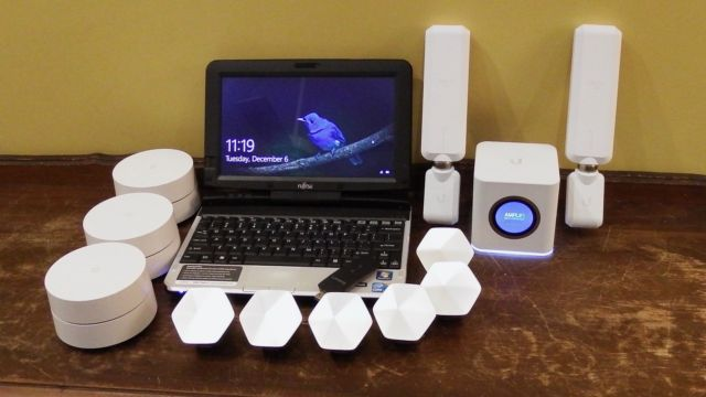 When Ars approaches mesh networking, we come prepared.(L to R: Google WiFi, Plume pods, and AmpliFi pods)