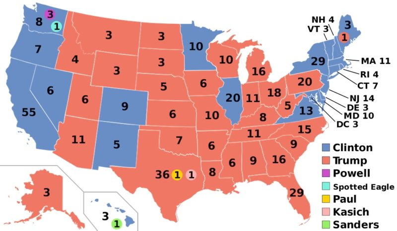 White House Fails To Make Case That Russian Hackers Tampered With - Final us electoral map 2016