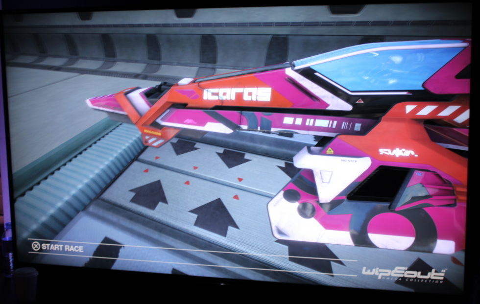 Even this shot, which is an off-screen capture of a 4K screen, shows off <em>Wipeout Omega Collection</em>'s improved textures and details.