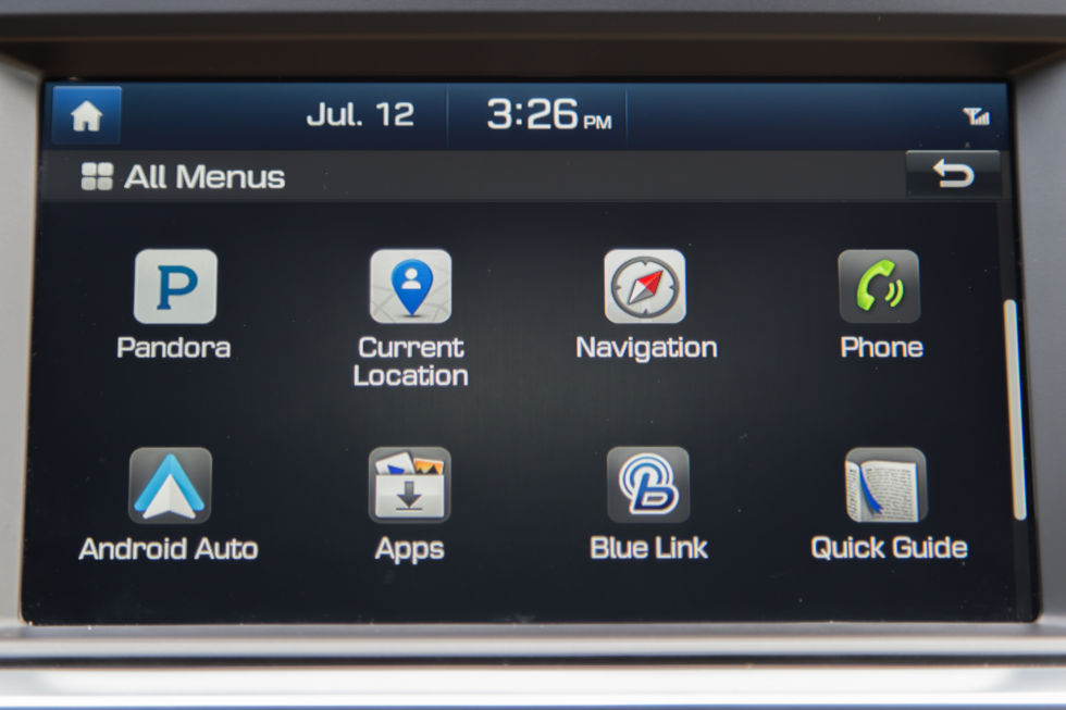 The infotainment system from the 2015 Hyundai Sonata. You're looking at Gingerbread.