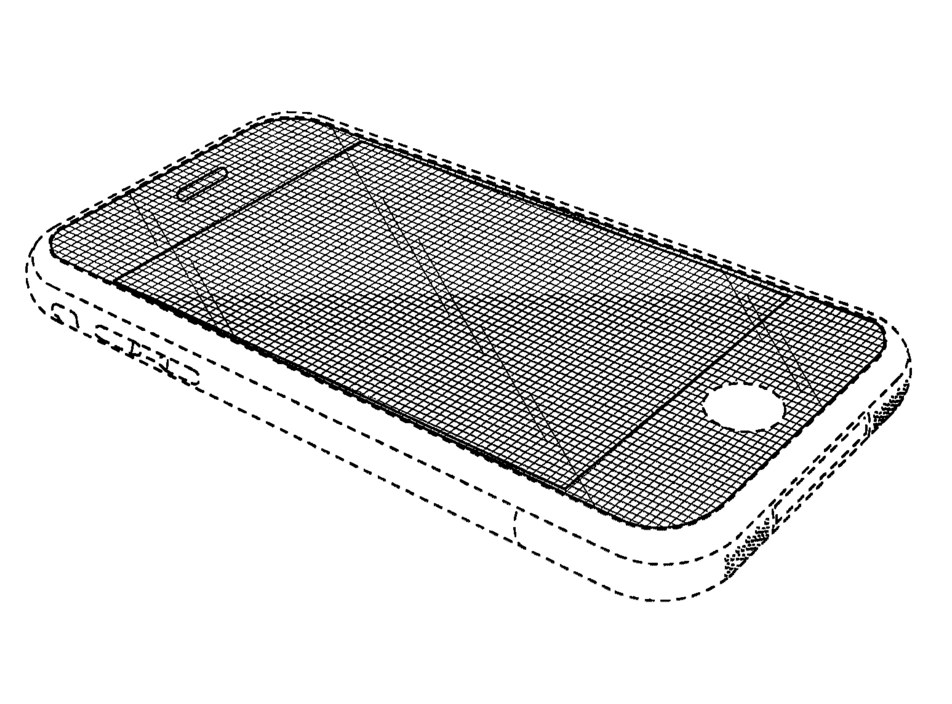 One of Apple's infringed patents, D618,677, describes a black rectangle with rounded corners.