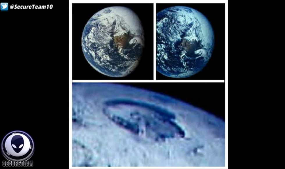 "Early satellite images clearly show a ""giant hole"" at the North Pole, right?"