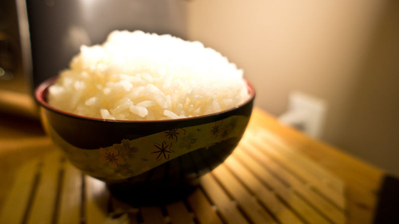 White on rice.