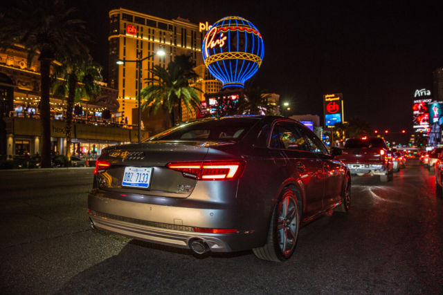 "Audi can't stop your car from hitting all the most enraging red lights on the Strip, but it can help you breathe through them with ""informed waiting."""